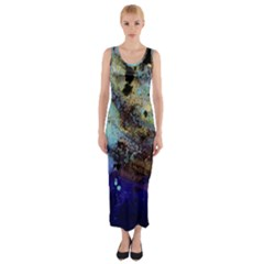 Blue Options 3 Fitted Maxi Dress