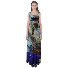 Blue Options 3 Empire Waist Maxi Dress