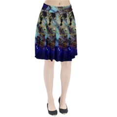 Blue Options 3 Pleated Skirt