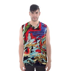 Blue Flamingoes 6 Men s Basketball Tank Top