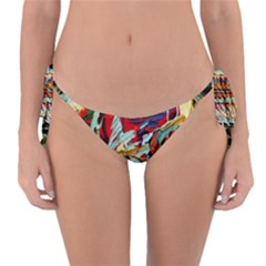 Blue Flamingoes 6 Reversible Bikini Bottom