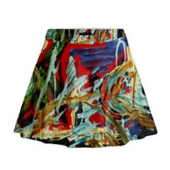 Blue Flamingoes 6 Mini Flare Skirt