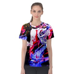 Blue Flamingoes Women s Sport Mesh Tee