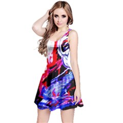 Blue Flamingoes Reversible Sleeveless Dress