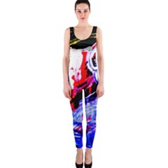 Blue Flamingoes One Piece Catsuit