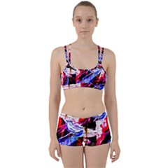 Blue Flamingoes Women s Sports Set