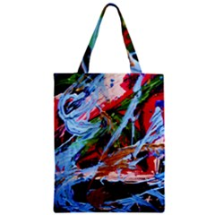 Blue Flamingoes 4 Zipper Classic Tote Bag