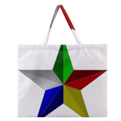 Druze Star Zipper Large Tote Bag