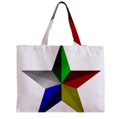 Druze Star Zipper Medium Tote Bag