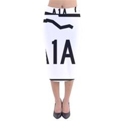 Florida State Road A1a Velvet Midi Pencil Skirt by abbeyz71