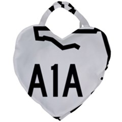 Florida State Road A1a Giant Heart Shaped Tote by abbeyz71