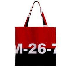 The 26th Of July Movement Flag Zipper Grocery Tote Bag by abbeyz71