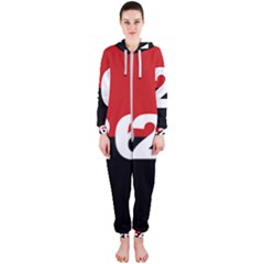 The 26th Of July Movement Flag Hooded Jumpsuit (ladies)