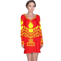 Aramean Syriac Flag Long Sleeve Nightdress