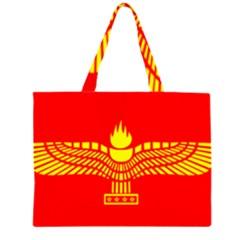 Aramean Syriac Flag Zipper Large Tote Bag