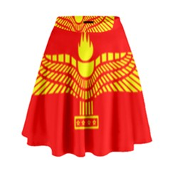 Aramean Syriac Flag High Waist Skirt