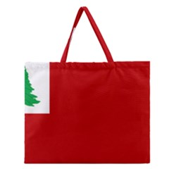 Revolutionary War Flag Of New England Zipper Large Tote Bag by abbeyz71