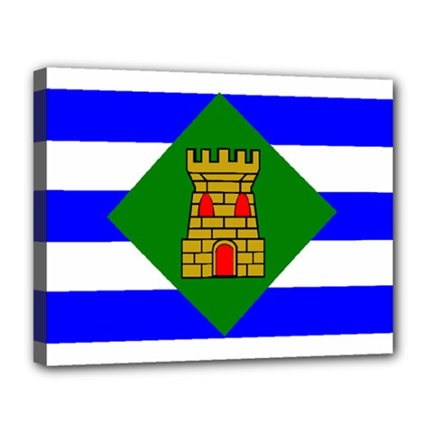 Flag Of Vieques Canvas 14  X 11