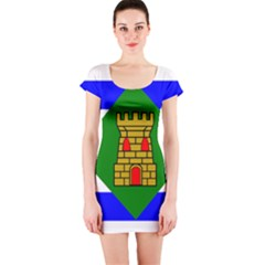 Flag Of Vieques Short Sleeve Bodycon Dress