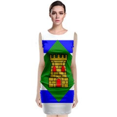 Flag Of Vieques Classic Sleeveless Midi Dress