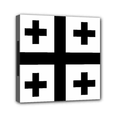 Black Jerusalem Cross  Canvas Travel Bag by abbeyz71