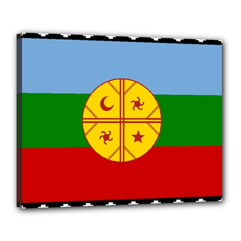 Flag Of The Mapuche People Canvas 20  X 16  by abbeyz71