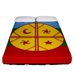 Flag Of The Mapuche People Fitted Sheet (king Size) by abbeyz71