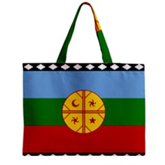 Flag Of The Mapuche People Zipper Medium Tote Bag by abbeyz71