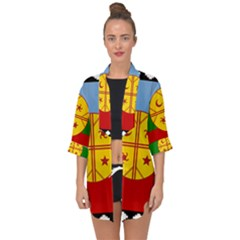 Flag Of The Mapuche People Open Front Chiffon Kimono