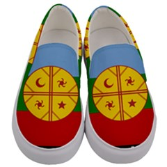 Flag Of The Mapuche People Men s Canvas Slip Ons