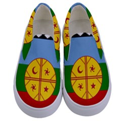 Flag Of The Mapuche People Kids  Canvas Slip Ons