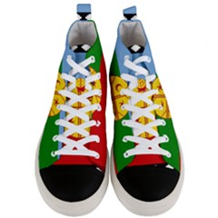 Flag Of The Mapuche People Men s Mid Top Canvas Sneakers