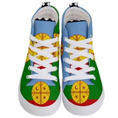 Flag Of The Mapuche People Kid s Hi Top Skate Sneakers