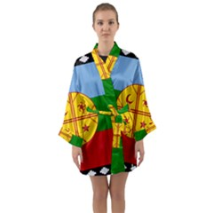 Flag Of The Mapuche People Long Sleeve Kimono Robe
