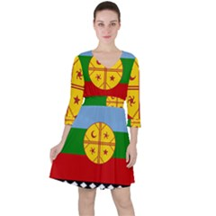 Flag Of The Mapuche People Ruffle Dress