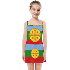 Flag Of The Mapuche People Kids Summer Sun Dress