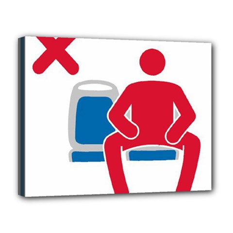 No Manspreading Sign Canvas 14  X 11