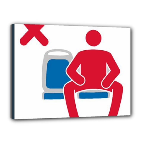 No Manspreading Sign Canvas 16  X 12
