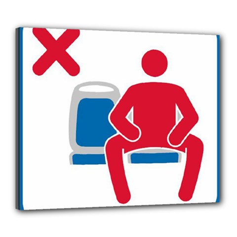 No Manspreading Sign Canvas 24  X 20
