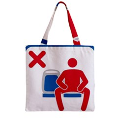 No Manspreading Sign Zipper Grocery Tote Bag