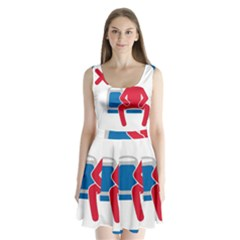No Manspreading Sign Split Back Mini Dress