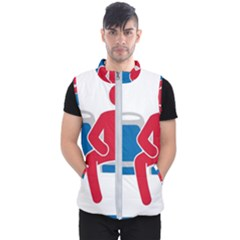 No Manspreading Sign Men s Puffer Vest