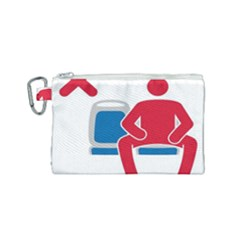 No Manspreading Sign Canvas Cosmetic Bag (small) by abbeyz71