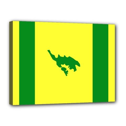 Flag Of Culebra Canvas 16  X 12