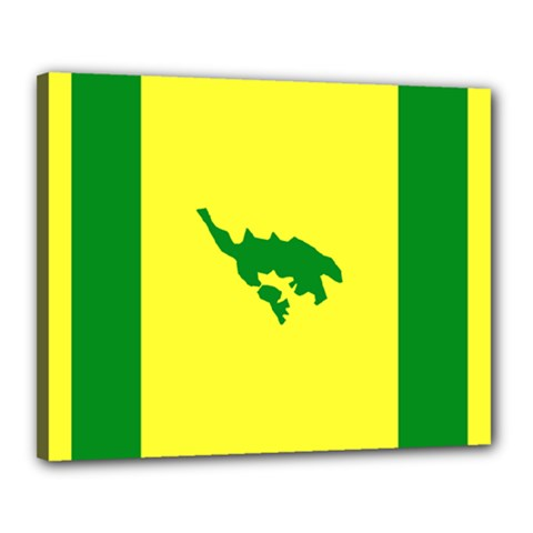 Flag Of Culebra Canvas 20  X 16