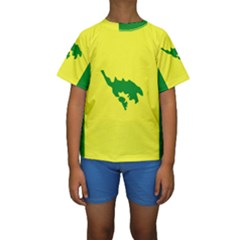 Flag Of Culebra Kids  Short Sleeve Swimwear