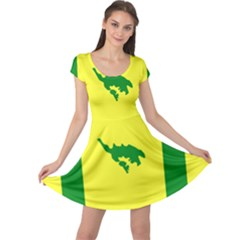 Flag Of Culebra Cap Sleeve Dress