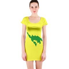 Flag Of Culebra Short Sleeve Bodycon Dress