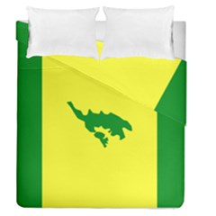 Flag Of Culebra Duvet Cover Double Side (queen Size)