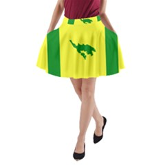 Flag Of Culebra A Line Pocket Skirt by abbeyz71